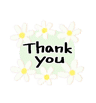 感謝いっぱい*よく使う基本の言葉*花(個別スタンプ:08)