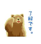 ちょいリアルくま(個別スタンプ:19)