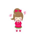 いちごちゃん & うさぎちゃん(個別スタンプ:01)