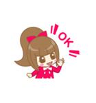 いちごちゃん & うさぎちゃん(個別スタンプ:08)
