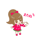 いちごちゃん & うさぎちゃん(個別スタンプ:13)