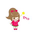 いちごちゃん & うさぎちゃん(個別スタンプ:16)