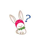 いちごちゃん & うさぎちゃん(個別スタンプ:21)