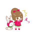 いちごちゃん & うさぎちゃん(個別スタンプ:30)