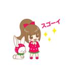 いちごちゃん & うさぎちゃん(個別スタンプ:34)