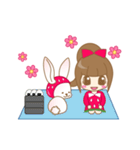 いちごちゃん & うさぎちゃん(個別スタンプ:35)