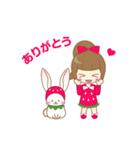 いちごちゃん & うさぎちゃん(個別スタンプ:36)