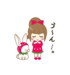 いちごちゃん & うさぎちゃん(個別スタンプ:37)