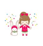 いちごちゃん & うさぎちゃん(個別スタンプ:40)
