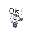 色白OL【日常】(個別スタンプ:02)