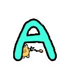 ぶーさんのアルファベット(個別スタンプ:01)