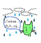 緑色の猫とスペイン語(個別スタンプ:24)