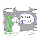 緑色の猫とスペイン語(個別スタンプ:25)
