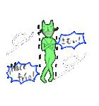緑色の猫とスペイン語(個別スタンプ:26)