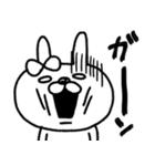 【日常モノクロver.】うさぎのモカちゃん⑲(個別スタンプ:24)