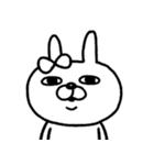 【日常モノクロver.】うさぎのモカちゃん⑲(個別スタンプ:25)