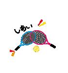 仲良しテニス犬(個別スタンプ:23)