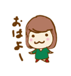 ふわふわがーる vol.01(個別スタンプ:01)