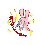 ♡うさぎの日常使いスタンプ♡(個別スタンプ:03)
