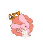 ♡うさぎの日常使いスタンプ♡(個別スタンプ:15)