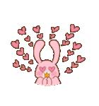 ♡うさぎの日常使いスタンプ♡(個別スタンプ:24)