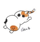 ミケ猫のムー(個別スタンプ:03)