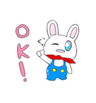 おーばーおーるうさぎ!(個別スタンプ:01)