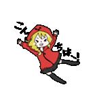 赤パーカーのろみちゃん(個別スタンプ:02)