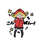 赤パーカーのろみちゃん(個別スタンプ:03)