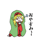 赤パーカーのろみちゃん(個別スタンプ:04)