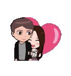 韓国語&日本語の可愛いカップル愛ちゃん(個別スタンプ:07)