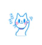 yuraの癒し系しろねこスタンプ(個別スタンプ:14)