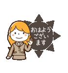 スーツ女子♡挨拶・ひとこと(個別スタンプ:01)