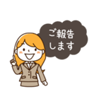 スーツ女子♡挨拶・ひとこと(個別スタンプ:12)