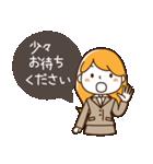 スーツ女子♡挨拶・ひとこと(個別スタンプ:16)