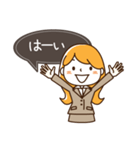 スーツ女子♡挨拶・ひとこと(個別スタンプ:18)