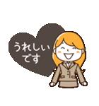 スーツ女子♡挨拶・ひとこと(個別スタンプ:21)