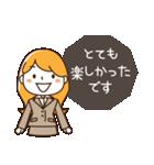 スーツ女子♡挨拶・ひとこと(個別スタンプ:22)