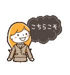 スーツ女子♡挨拶・ひとこと(個別スタンプ:24)