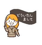 スーツ女子♡挨拶・ひとこと(個別スタンプ:25)