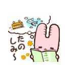 旅行が好きなウサギちゃん♪毎日の会話に♡(個別スタンプ:22)
