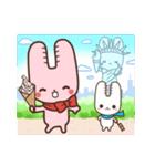 旅行が好きなウサギちゃん♪毎日の会話に♡(個別スタンプ:37)