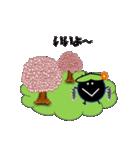 桜-帽子をかぶったウニ(個別スタンプ:08)