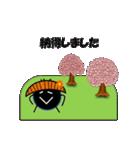 桜-帽子をかぶったウニ(個別スタンプ:10)
