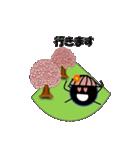 桜-帽子をかぶったウニ(個別スタンプ:19)
