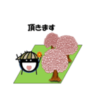 桜-帽子をかぶったウニ(個別スタンプ:21)
