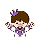 Jオタクのための王子様スタンプ(紫色)(個別スタンプ:17)