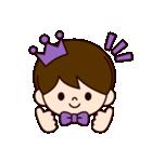 Jオタクのための王子様スタンプ(紫色)(個別スタンプ:34)