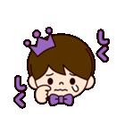 Jオタクのための王子様スタンプ(紫色)(個別スタンプ:36)