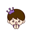 Jオタクのための王子様スタンプ(紫色)(個別スタンプ:37)
